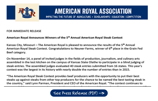 American Royal Steak Contest